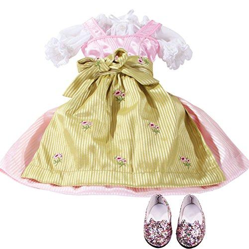 Götz 3402983 Schicke Wiesn - es ist Festzeit mit deiner Just-Like-me Puppe - Bekleidungsset für Stehpuppen XS mit Einer Größe von 27 cm