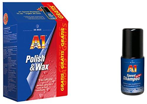 Dr. Wack - A1 Polish und Wax, 500 ml inkl. GRATIS A1 Speed Shampoo, 75 ml,(#27501)