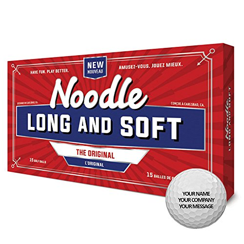 TaylorMade Noodle Long and Soft Personalized Golf Balls 15 Balls White