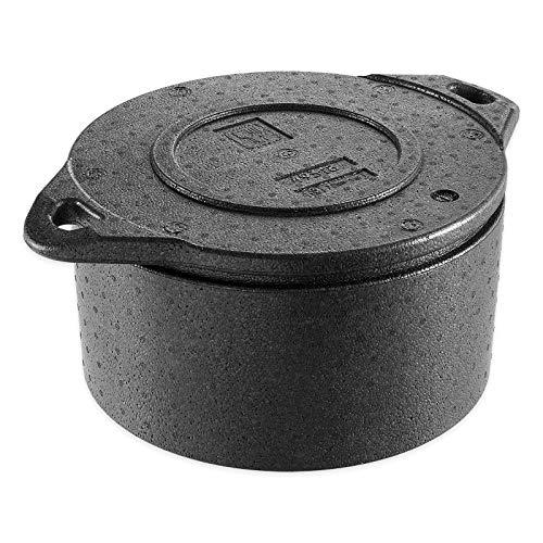 thermohauser EPP-Thermobox Torte schwarz, mit Deckel, 10,5 L