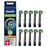 Oral-B CrossAction Black Edition Aufsteckbürsten mit CleanMaximiser-Borsten für ganzheitliche...