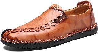 [ファイン?ショップ] 革靴 メンズ 大きいサイズ おしゃれ カジュアルシューズ フラット ラウンドトゥ ローカット 耐磨耗 通気 柔らかい 滑り止め 快適 歩きやすい 履きやすい 紳士靴 スリッポン ブラウン 24.0~29.0cm