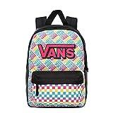 Vans Girls Realm Backpack, Mochila para Niñas, Multi Check, OS