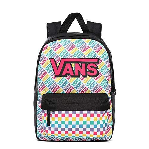 Vans Girl's REALM BACKPACK, MULTI CHECK, OS