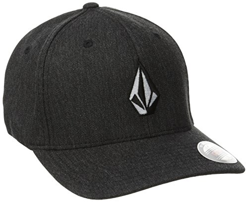 Volcom HTHR Casquette chinée Full Stone Xfit Homme, Charcoal Heather, FR : L (Taille Fabricant : L/XL)