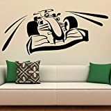 Fórmula racing calcomanías de pared coche deportivo niños adolescentes dormitorio dormitorio garaje decoración del hogar puertas y ventanas pegatinas de vinilo papel tapiz