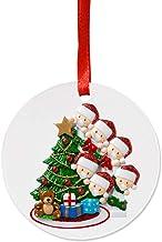 YTXTT Ornamento de Natal com nome personalizado, família de 2020, presente inovador, enfeite pendurado para a família