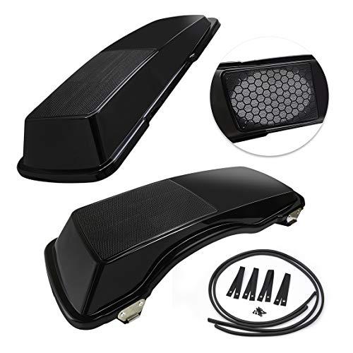 PBYMT Saddlebag Speaker Lids 6x9 Inches Vivid Black Compatible for Harley Davidson Touring Road King Street Electra Glide 1994-2013