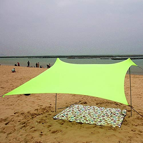 Beach Tent With Sandbag Anchor, Lycra Fabric Beach Awning Beach Tent-Perfect Awning