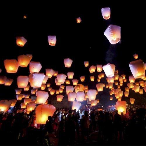 KirinStores (TM 10 pcs Sky Blanc lanternes Souhaitant lanternes