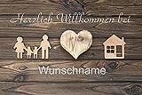 Crealuxe Fussmatte - Herzlich Willkommen bei .mit Wunschname (90) - Fussmatte...