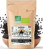 Nabür - Nigella orgánica semillas 200 gr | Comino Negro Organico Gourmet - Infusion, Cocinar, Hornear - Rico en hierro, minerales, vitaminas, antioxidante