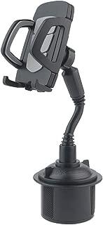 sakd, Car Cell Phone Holder Mount Mobile Phone Stand 360° Adjustable Gooseneck Cup Phone Bracket Long Hose Car Cup Bit Holder (Black)