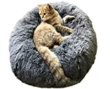 BinetGo Donut Dog Bed Cat Bed Calming Anxiety,Pet...