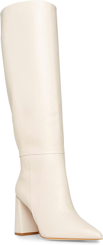 Steve Madden Women's Handles Knee High Boot, Bone Leather, 10