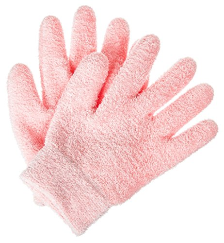 Deseau Moisturizing Gloves - Luxurious Soft Microfiber with Thermoplastic Gel Lining Infused with Botanical Oils - One Pair