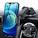 DesertWest Car Phone Holder Mount, Heavy Suction Cell Phone Holder Car Dashboard Windshield Air Vent Fit with iPhone 12 SE 11 Max Pro X XS Max XR 8 7, Samsung Galaxy S20 S10 S10+ S10e All Phones