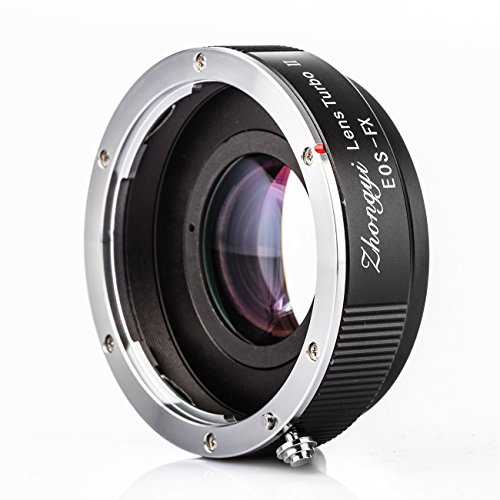Zhongyi Lens Turbo II 0,72x Speed Booster für Canon EOS EF Mount Lens to Fujifilm X FX Kamera