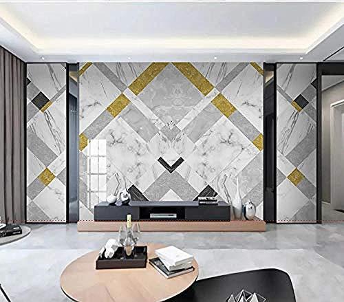 Jazz White Marble Modern Minimalist Geometric Light Luxus Tapete Wanddekoration fototapete 3d Tapete effekt Vlies wandbild Schlafzimmer-200cm×140cm