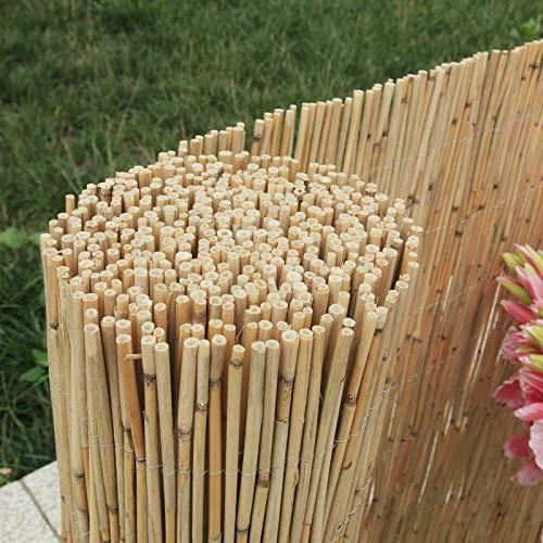 Enjoy-Quality Schilfrohrmatten - Länge 600 cm x Höhe 100 cm - Schilfmatten, Strohmatte - Sichtschutz oder Windschutz als Deko für Garten Balkon Zaun (600 x 100 cm)