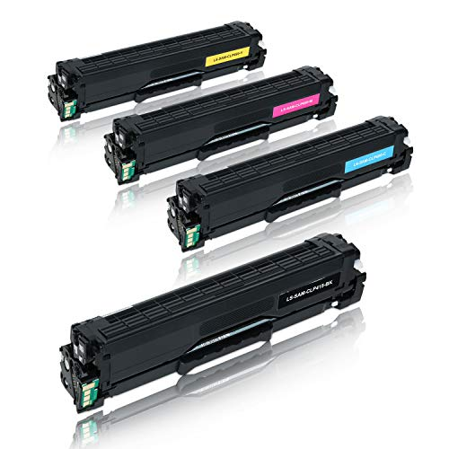 4 Toner kompatibel für Samsung CLP-415N/XEC CLP-415NW/XEG Xpress SL-C1810W/SEE C1860FW/XEC CLX-4195FW/TEG-CLP415 CLT-K504S CLT-C504S CLT-M504S CLT-Y504S/ELS-BK 2500 Seiten Col. je 1800 Seiten