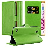Cadorabo Book Case works with Sony Xperia C4 in GRASS GREEN