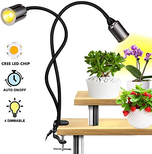 WXCCK 75 W Full Spectrum LED Grow Light, Timing functie dubbele kop met lamp granaat 4 warm wit dimbaar Sunlike Fabrik licht voor planten Bonsai binnen
