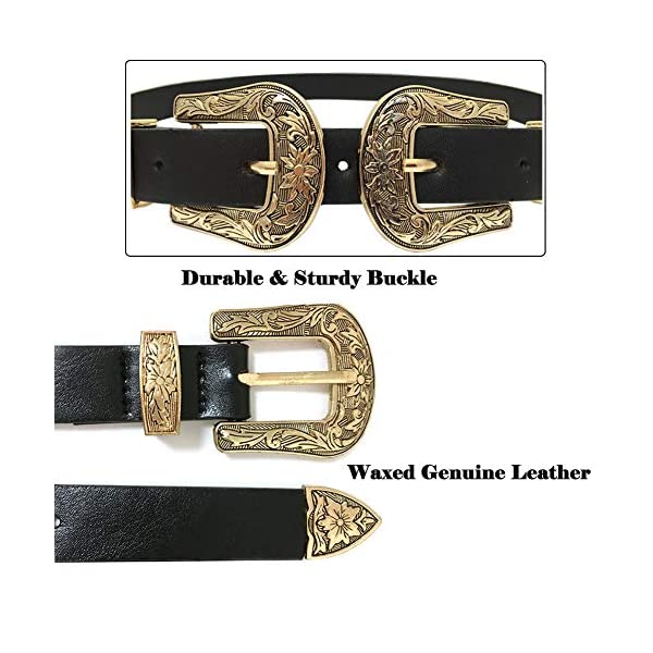 Western Vintage Style Genuine Leather Belt 4