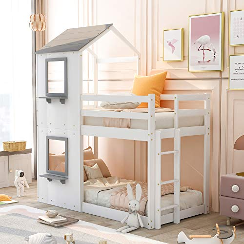 Merax House Shaped Bunk Bed with...