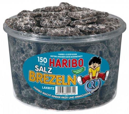 HARIBO - Salzbrezel - Lakritz - Salmiak - Dose mit 150 Stück