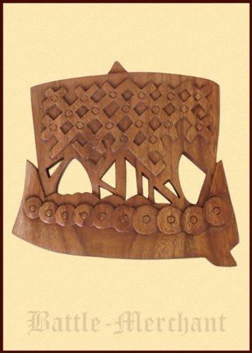 Barcos vikingos de madera, talladas a mano - barco dragón - dragón barco - señal