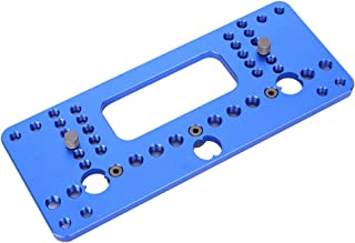 Hole Puncher, Hole Saw Aluminium Alloy Handle Hardware Jig, Hinge Jig, for Positioning Woodworking(08610B blue)