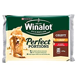 Winalot Perfect Portions Selection Meat in Gravy Adult Dog Food, 4 x 100g