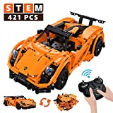 STEM Building Toys Rc Car, Remote Control Car Educational Toys for Boys and Girls, 421 Pieces Building Blocks...
