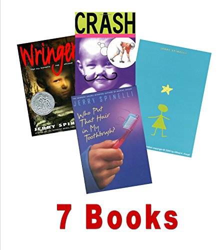 Spinelli Books: Wringer; Stargirl; Crash; Milkweed; Who Put That Hair in My Toothbrush; Jason and Madeline (An Unofficial Box Set : Grade 5 - 7)