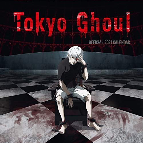 Tokyo Ghoul 2021 Square Calendar with Organising Stickers Great Gift Present Wall Hanging