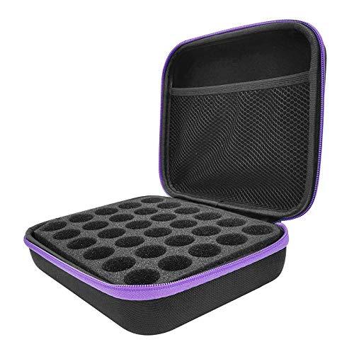 Caja de Aceite Esencials, 30 Botellas EVA Concha Dura Aceite Esencial Funda de Transporte,para Botellas de Esmalte de uñas