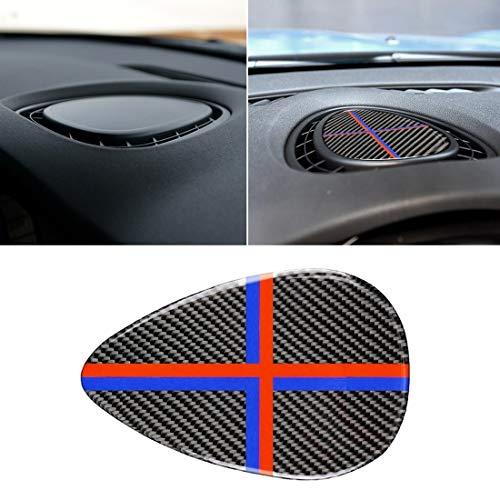Car Holder Remote-Car Key-Car Phone Sticker Rosso Blu dell'automobile di colore F Telaio Strumentazione Console in fibra di carbonio Pannello adesivo decorativo for BMW Mini Cooper JCW Una F56 / F55 /