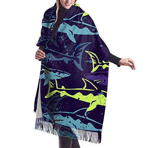 Bufanda larga cálida suave Otoño Invierno Abrigo de primavera Colorido Sh-ar-k Chales ligeros y suaves piel Bufandas de cachemira adolescentes adultos