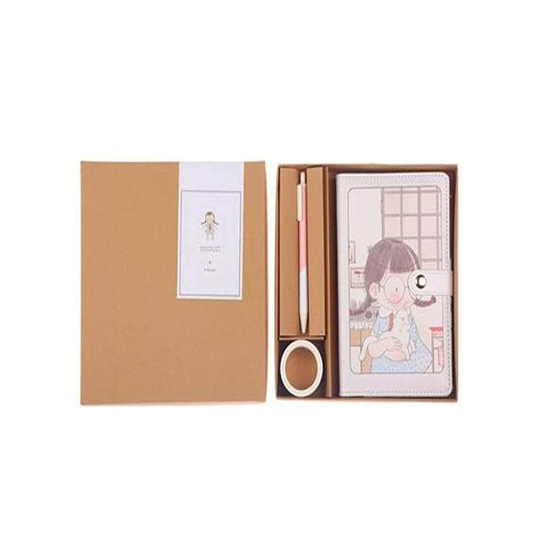 Jielongtongxun ノート - 携帯用ノート、仕事の会議の記録帳、日記、絶妙かつ簡潔、贈り物として使用することができます、色:ナチュラル、サイズ:19 * 14 cm 繊細でシンプル (Color : Natural)