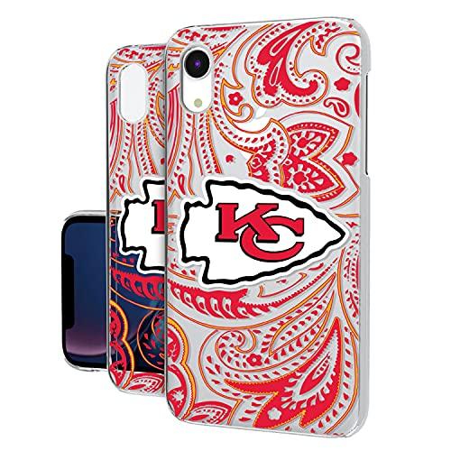 Strategic Printing Kansas City Chiefs iPhone Clear Paisley Design Case -  3533629