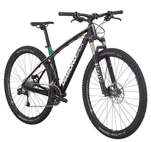 Diamondback Bicycles 2015 Overdrive Carbon Hard Tail Complete Mountain Bike, Green, 16-Inch/Small