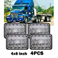 Headlights for Freightliner FLD120/FLD112/Condor Kenworth W900/T2000/T800/T600A/C500 Peterbilt 265/362/320, Sealed Beam High Low H4651 H4642 H4652 H4656 H4666 H4668 H6545 Conversion Kit