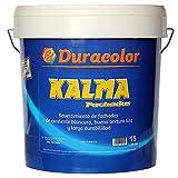 Pintura Kalma Liso Fachadas - Color Blanco - 15 Litros - Resistente a los Álcalis - Especial para Fachadas y Superficies Exteriores - Efecto Mate Liso - Acción Impermeable - Duracolor