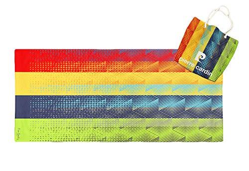 Asditex Toalla de Playa Redonda 100x180 cm Pierre Cardin y Bolsa de Regalo