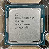 Intel Core I7-8700K I7 8700K 3.7 GHz Six-Core Twelve-Thread CPU Processor 12M 95W LGA 1151