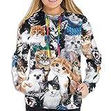 N/A NA Funny Cool Sweatshirts - Sudadera Deportiva con Bolsillos Canguro para niñas y Mujeres, Mujer, Imágenes de los Santos Católicos, Medium