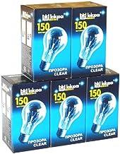 5 x gloeilamp 150 W helder E27 gloeilamp 150 watt gloeilampen gloeilampen gloeilampen