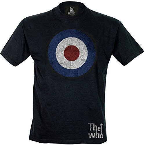 Rock Off - The Who Target Distressed Tee, t-shirt Uomo, Nero (Black), Small
