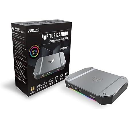 ASUS TUF GAMING CAPTURE BOX CU4K30 ゲームキャプチャーボックス 4K対応 / ゲーム実況 録画 配信 会議 向け/ウェブカメラ PS5 PS4Pro Switch Mac Windows/OBS 公式承認モデル / USB3.2接続 / ボイスチャット録音機能